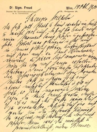 Lettere a Wilhelm Fliess, Sigmund Freud, 1887-1904